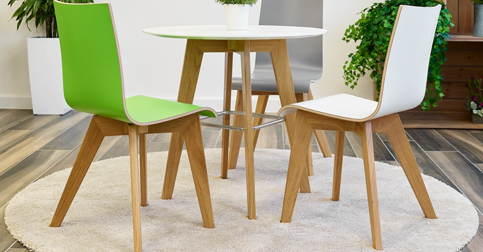three chairs round the table