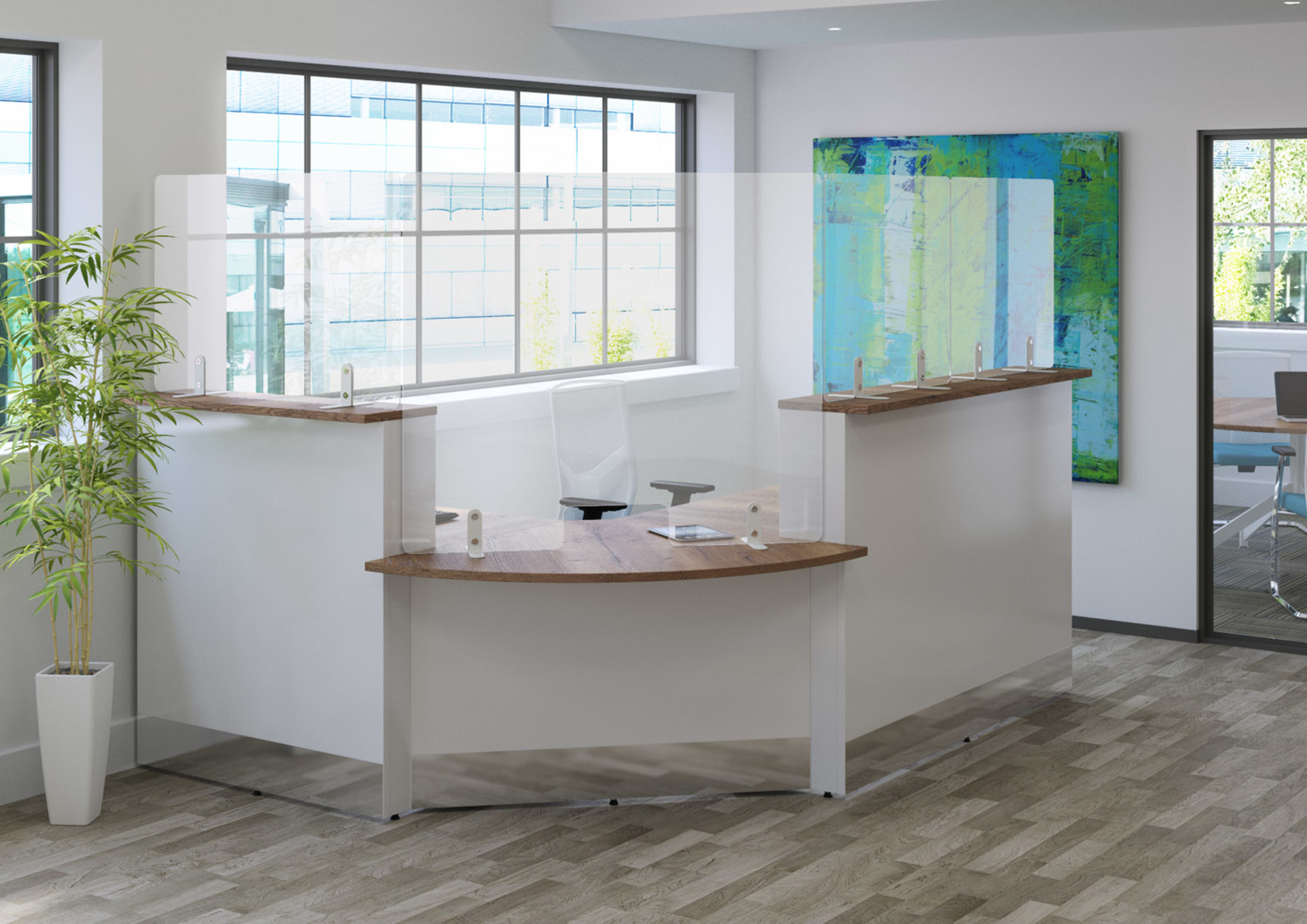 Freestanding Screens for Reception Areas