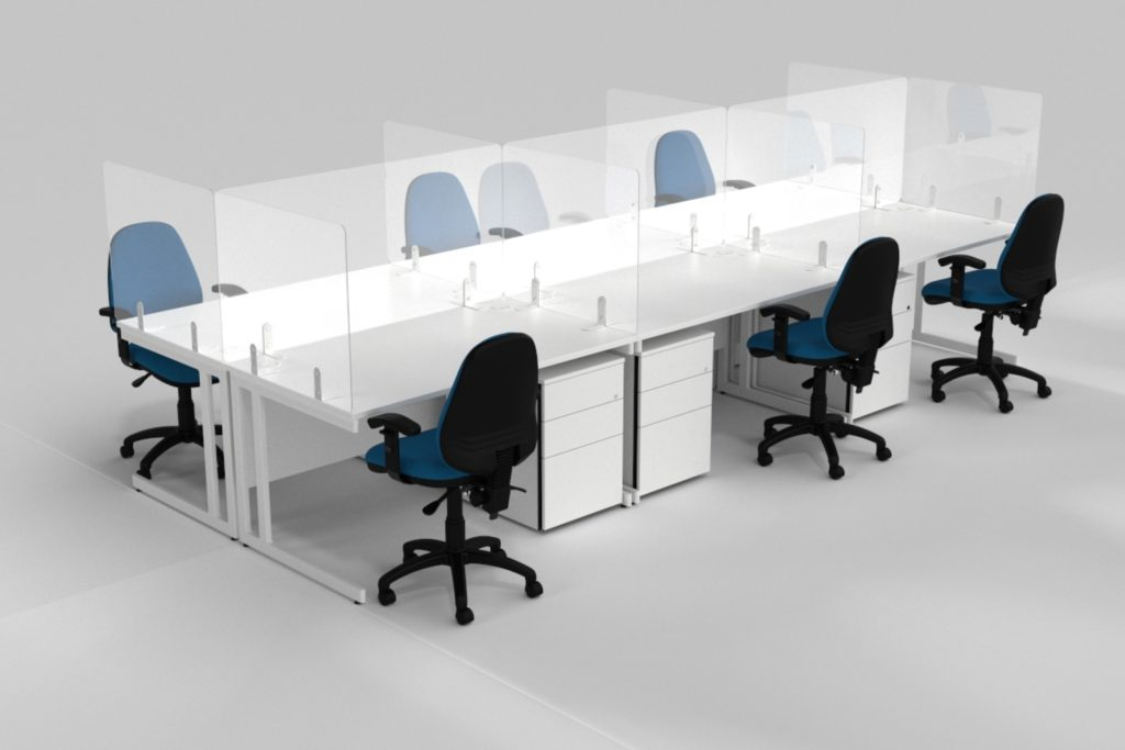 Freestanding Screens for Desks