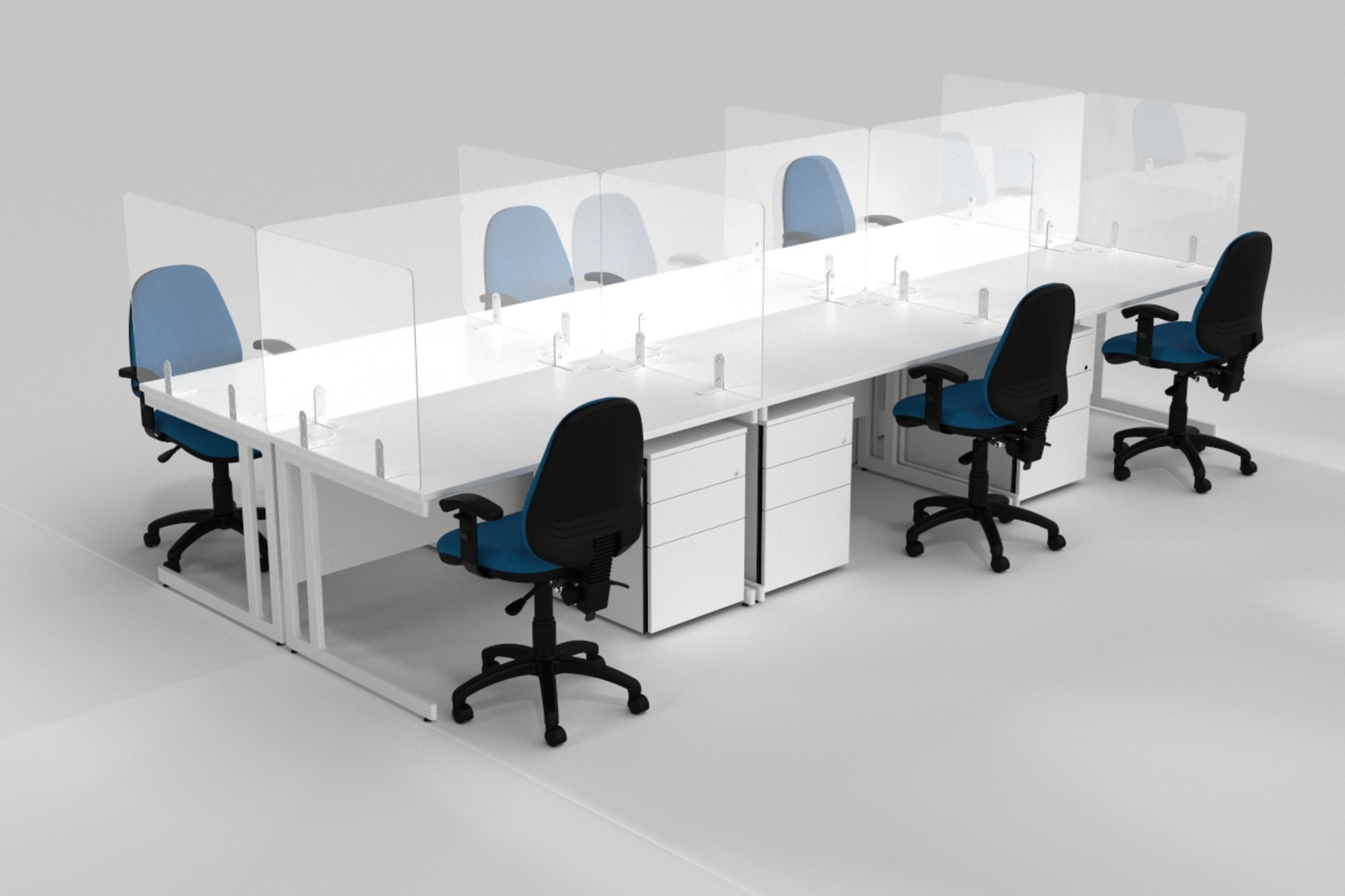 Freestanding Screens for Desks