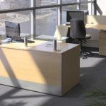 Rectangular reception counter