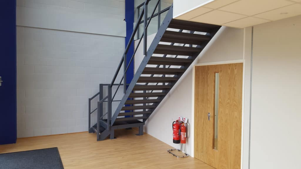 Stairs painted and wood flooring laid