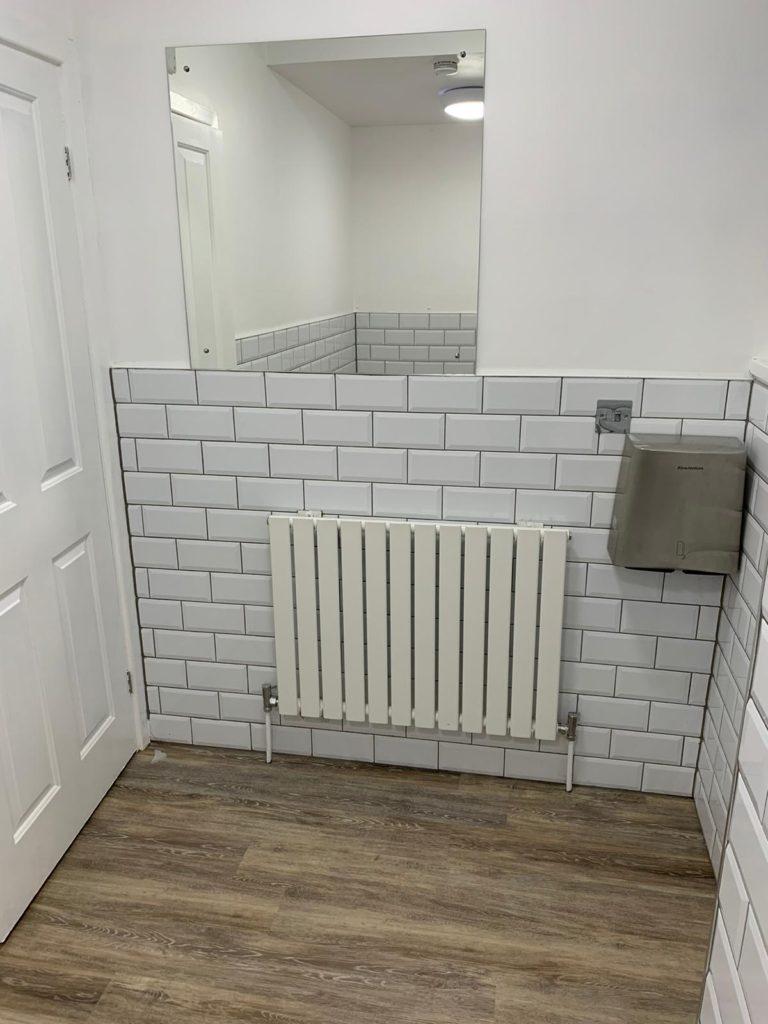 bathroom radiator and mirror